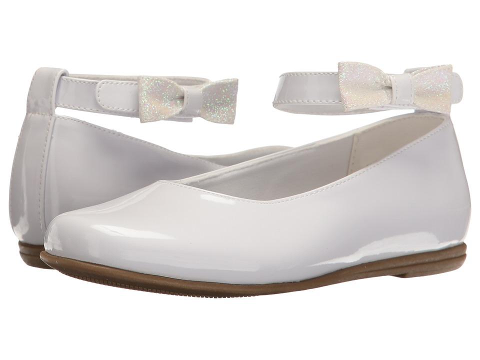 Rachel Kids Louisa (Little Kid) (White Patent) Girl's Shoes