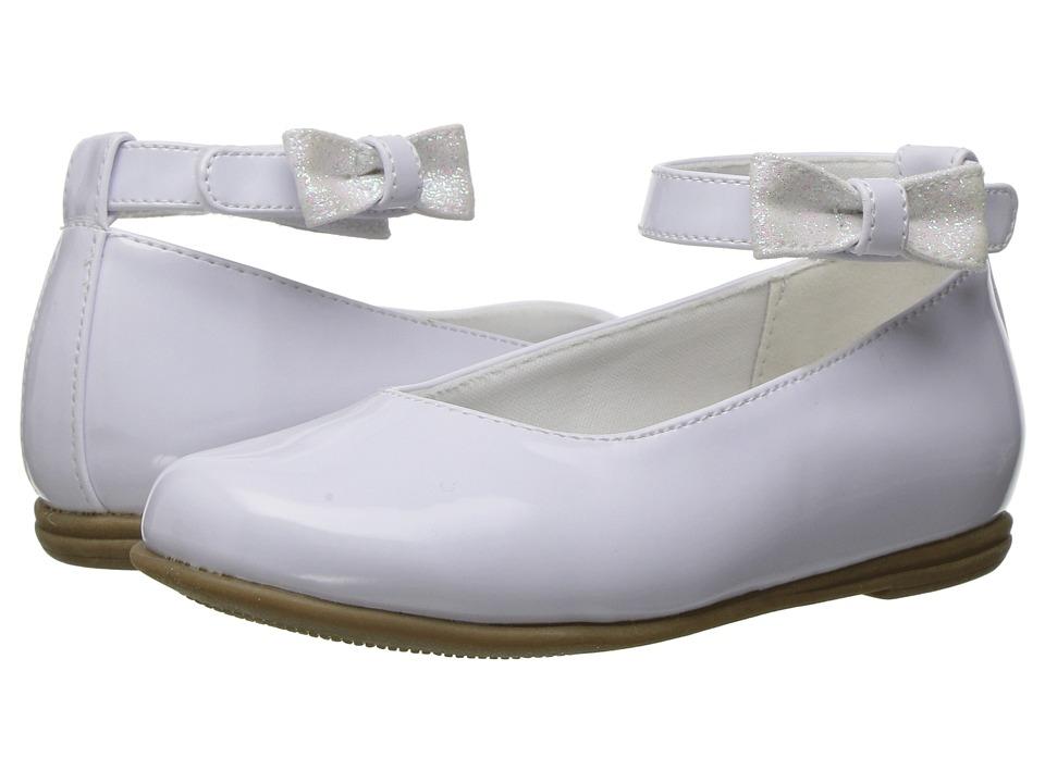 Rachel Kids - Lil Louisa (Toddler) (White Patent) Girls Shoes