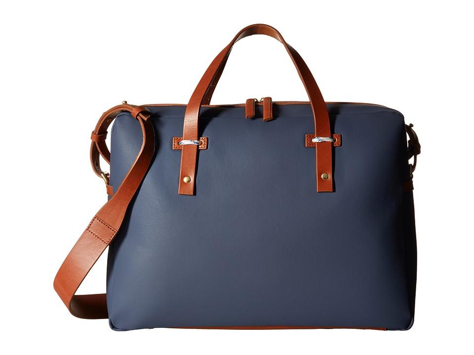 Miansai Fulton Briefcase (Navy/Cognac) Briefcase Bags