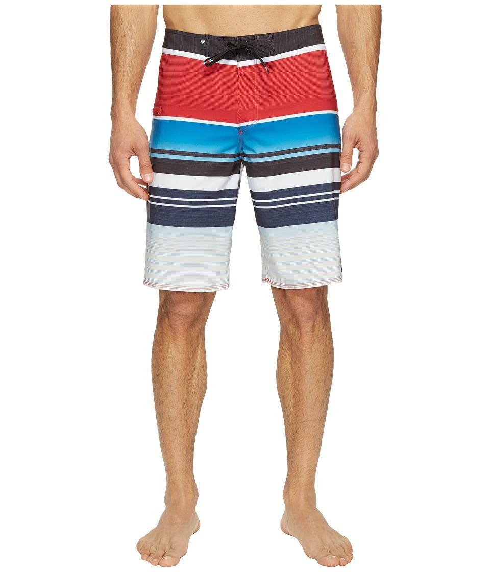 Quiksilver Everyday Stripe Vee 21 Boardshorts (Chilli Pepper) Men