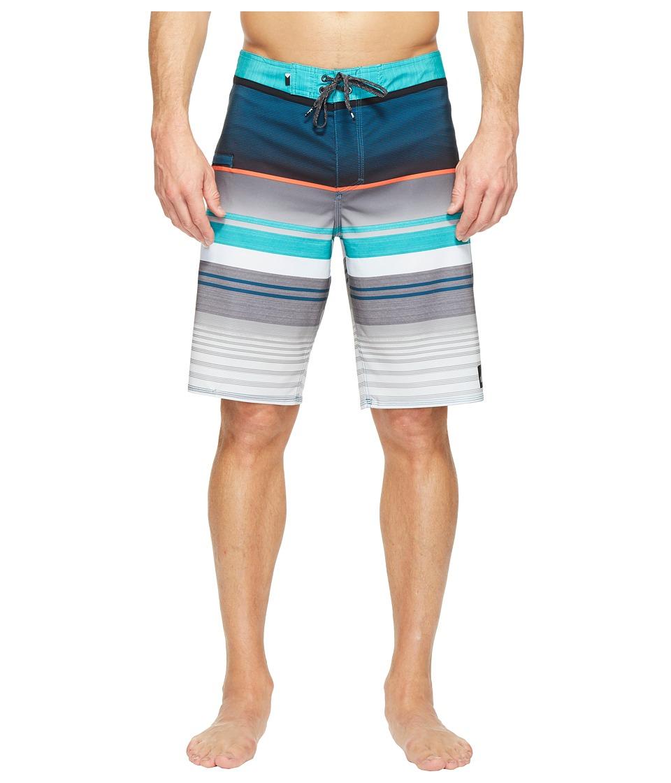 Quiksilver Everyday Stripe Vee 21 Boardshorts (Viridian Green) Men