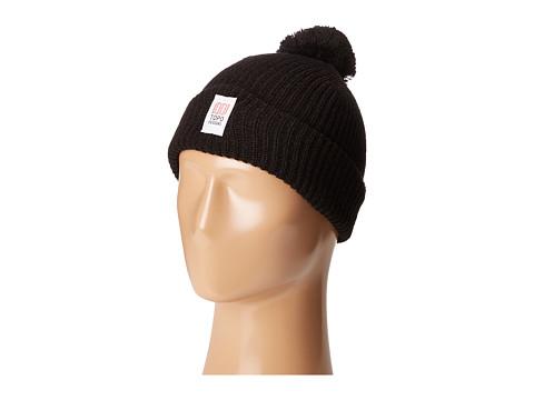 Topo Designs Pom Beanie - Black