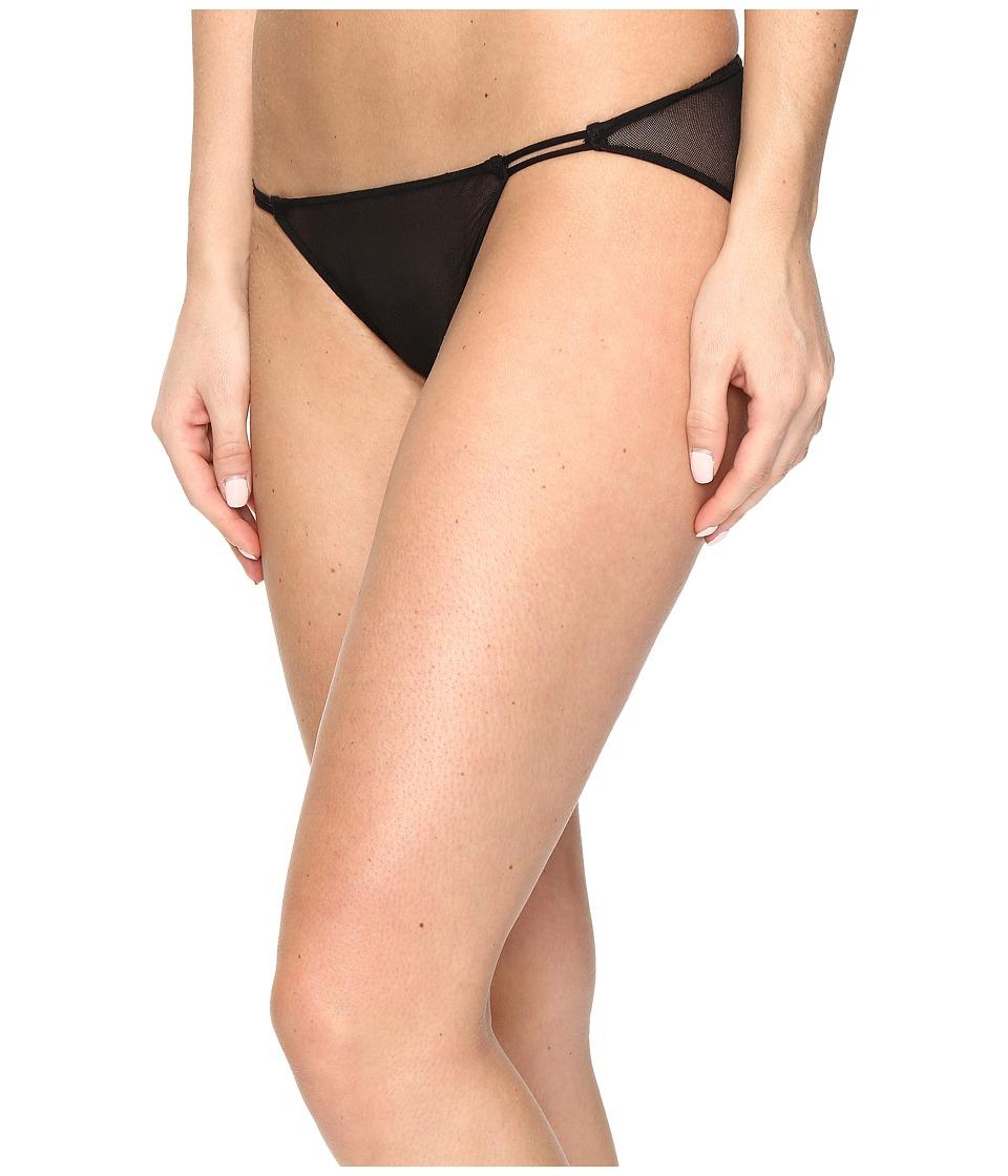 Only Hearts Tulle String Bikini (Black) Women's Underwear