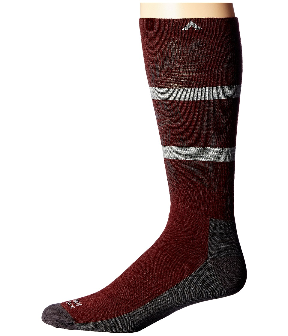 Wigwam - Makua Valley Pro (Maroon) Mens Crew Cut Socks Shoes