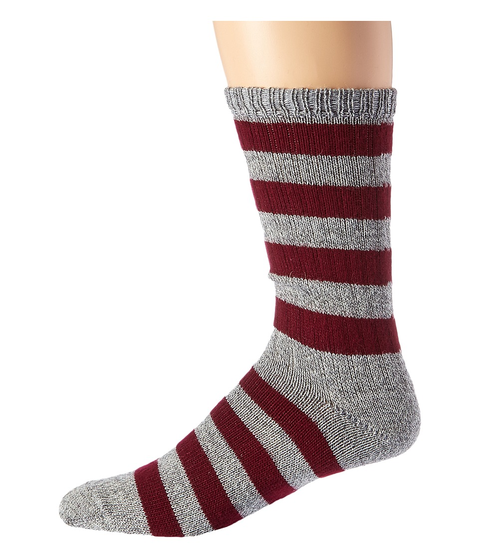 1920s-1950s New Vintage Men's Socks Wigwam - Scrum GreyMaroon Mens Crew Cut Socks Shoes $18.00 AT vintagedancer.com