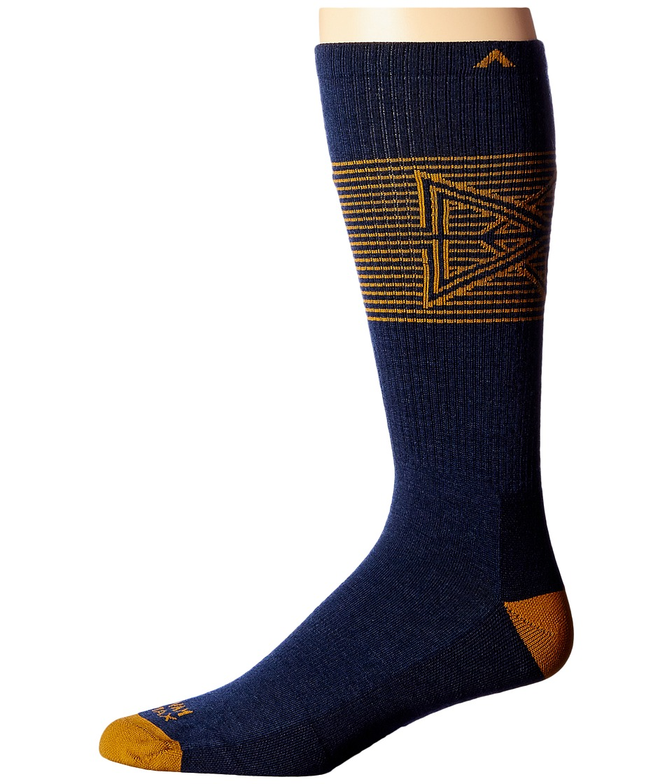 1920s-1950s New Vintage Men's Socks Wigwam - Broken Arrow Pro Navy Mens Crew Cut Socks Shoes $16.00 AT vintagedancer.com