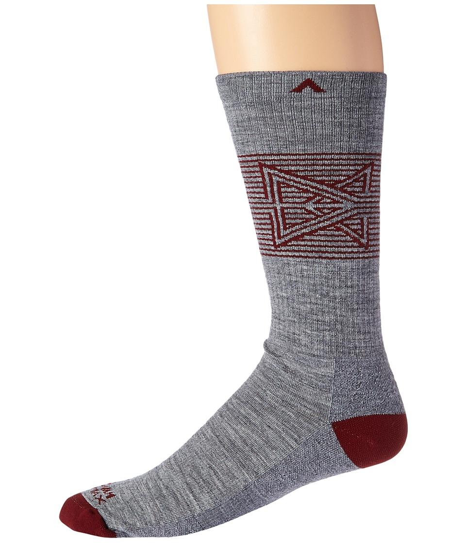 History of Vintage Men's Socks -1900 to 1960s Wigwam - Broken Arrow Pro Grey Mens Crew Cut Socks Shoes $16.00 AT vintagedancer.com
