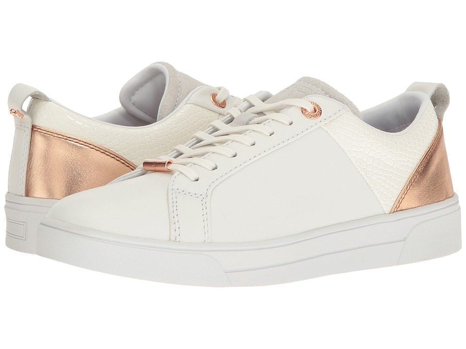Ted Baker Kulei (White/Rose Gold Leather/PU) Women