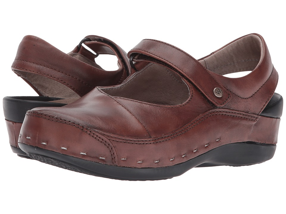 Wolky Strap Cloggy (Cognac) Clogs