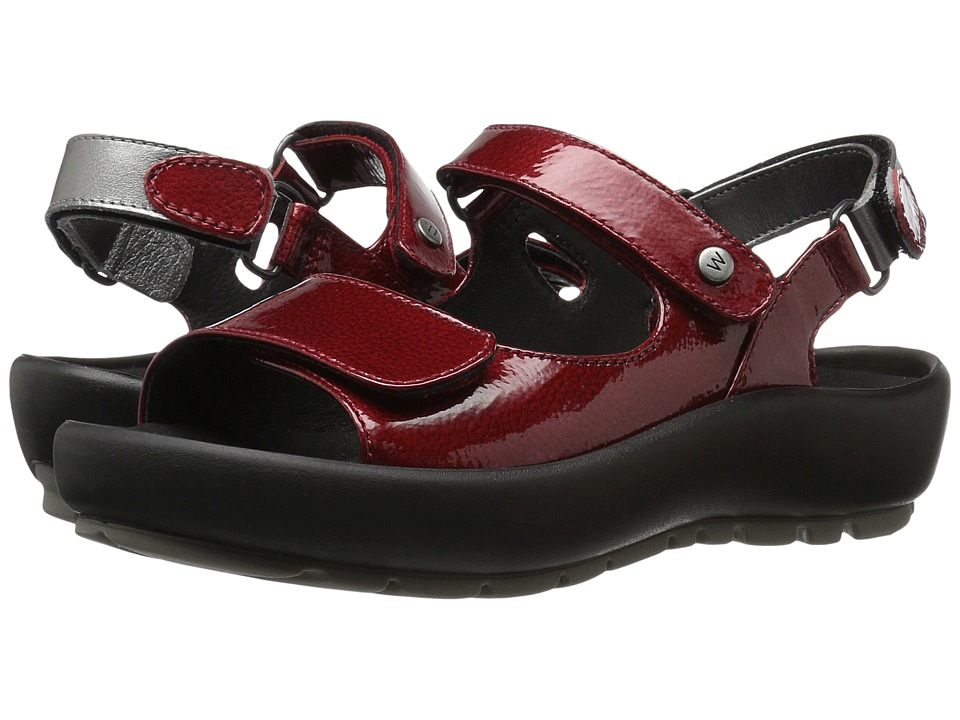 Wolky Rio (Red Patent Metal) Sandals