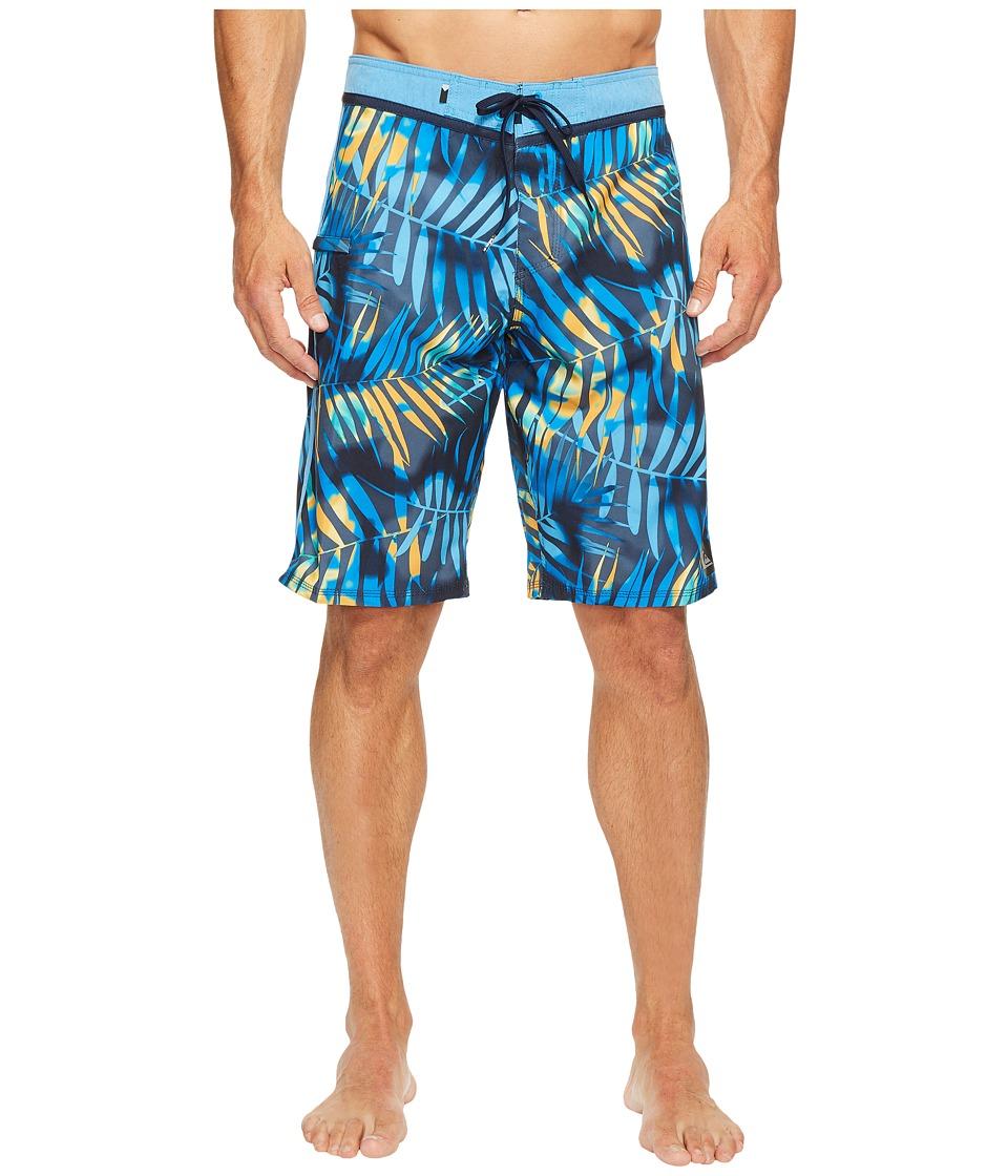 Quiksilver Palm Shade 21 Boardshorts (Navy Blazer) Men