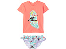 Seafolly Kids Touci Frutti Short Sleeve Rashie Set (Infant/Toddler/Little Kids)