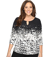 Calvin Klein Plus - Plus Size 3/4 Sleeve Print Top