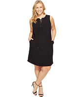 Calvin Klein Plus - Plus Size Sleeveless Lace-Up Dress