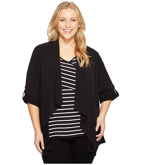 Calvin Klein Plus Plus Size Roll Sleeve Open Flyaway Jacket