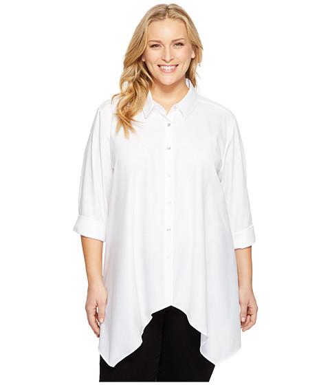 Calvin Klein Plus Plus Size Roll Sleeve Sharkbite Top