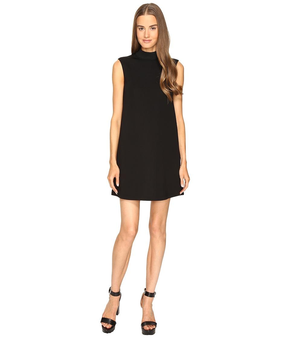McQ High Neck Dress (Darkest Black) Women