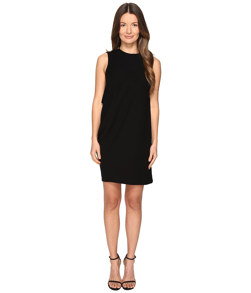 McQ Side Drape Dress (Black) Women