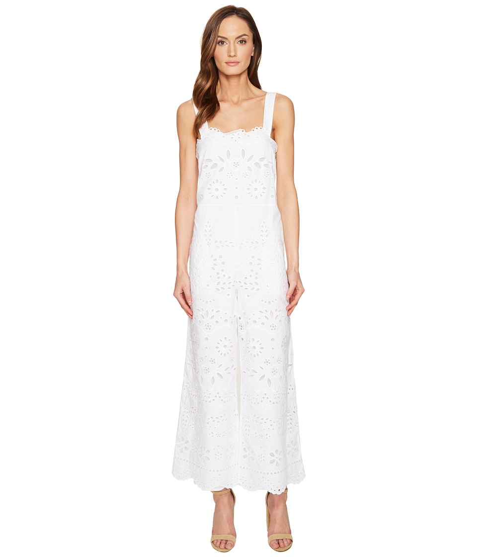 RED VALENTINO - Cotton Muslin and Sangallo Embroidery Jumpsuit