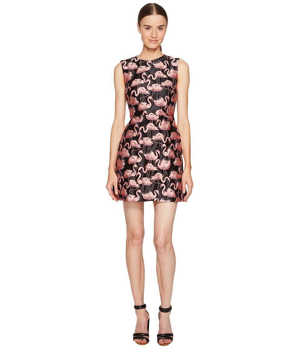 RED VALENTINO - Flamingo Brocade Dress