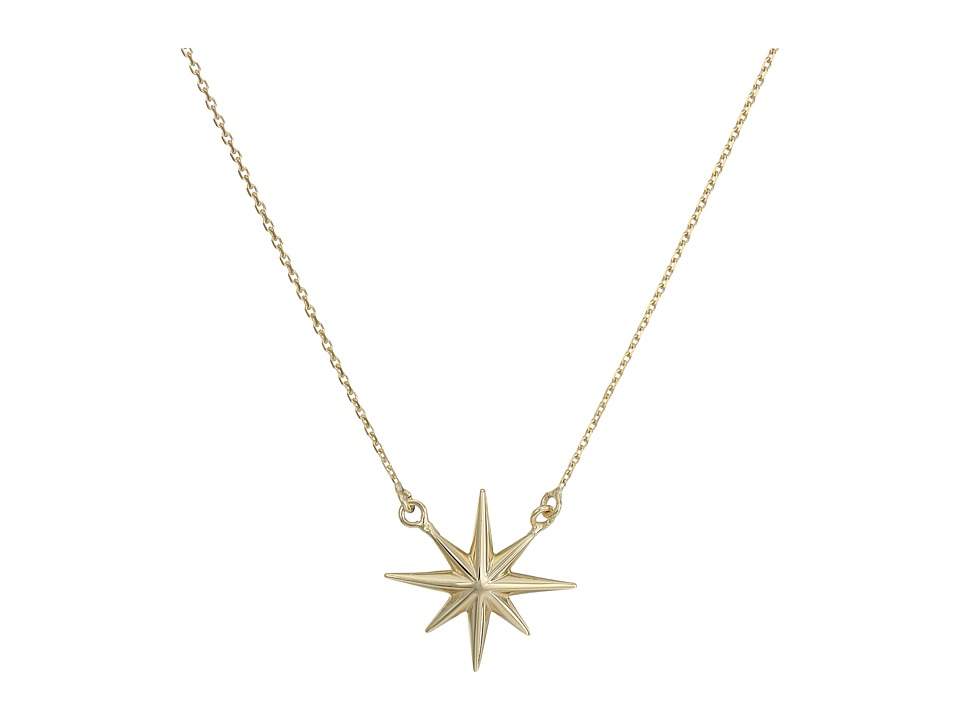 Dee Berkley - 14KT Yellow Gold North Star Necklace (Yello...