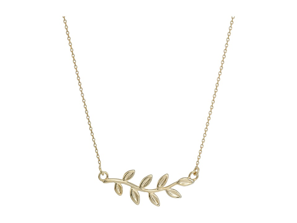 Dee Berkley - 14KT Yellow Gold Leaf Necklace (Yellow Gold...