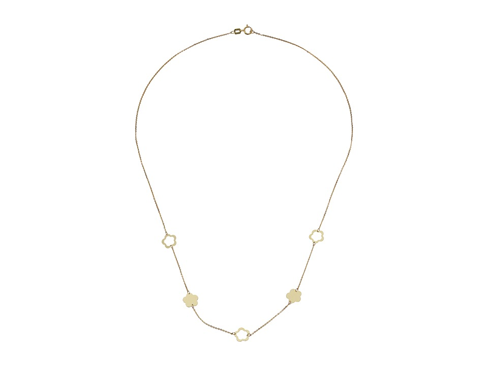 Dee Berkley - 14KT Yellow Gold Flower Station Necklace (Y...