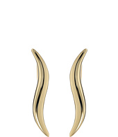 Dee Berkley - 14KT Yellow Gold Wavy Climber Earrings