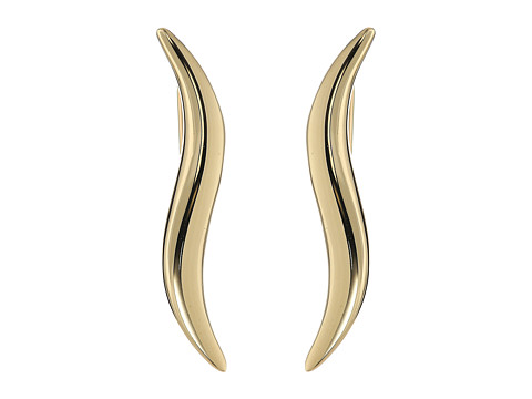 Dee Berkley 14KT Yellow Gold Wavy Climber Earrings - Yellow Gold