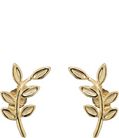Dee Berkley - 14KT Yellow Gold Leaf Climber Earrings