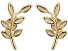 Dee Berkley 14KT Yellow Gold Leaf Climber Earrings