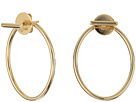 14KT Yellow Gold Oval Front/Back Earrings
