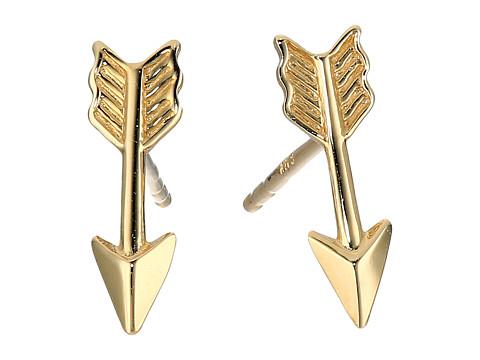 Dee Berkley 14KT Yellow Gold Arrow Earrings - Yellow Gold