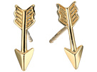 Dee Berkley 14KT Yellow Gold Arrow Earrings