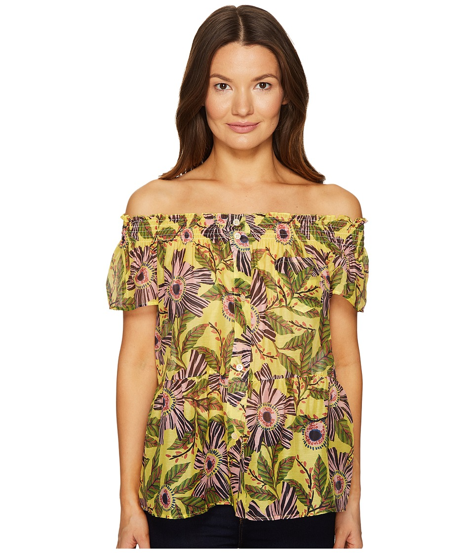 RED VALENTINO - Passion Flower Silk Cotton Top