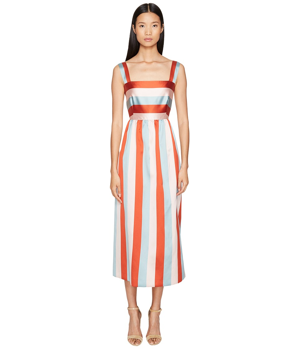 RED VALENTINO - Striped Twill Taffeta Dress