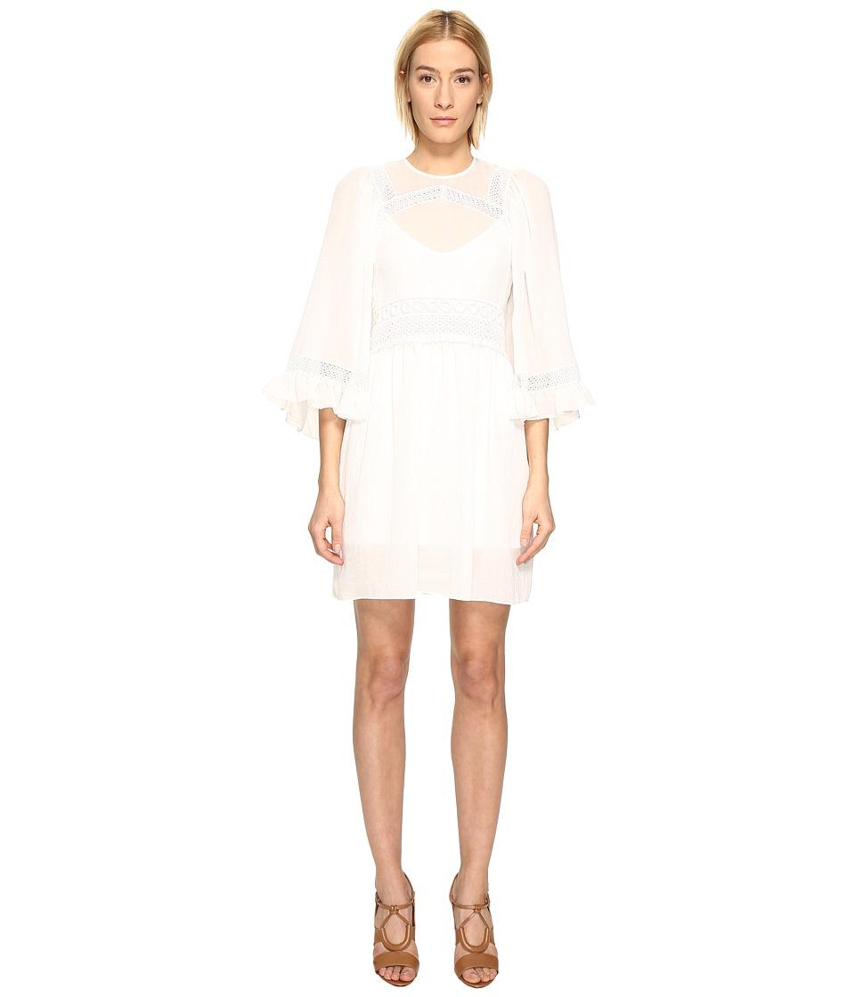 McQ Volume Sleeve Dress (Ivory) Women