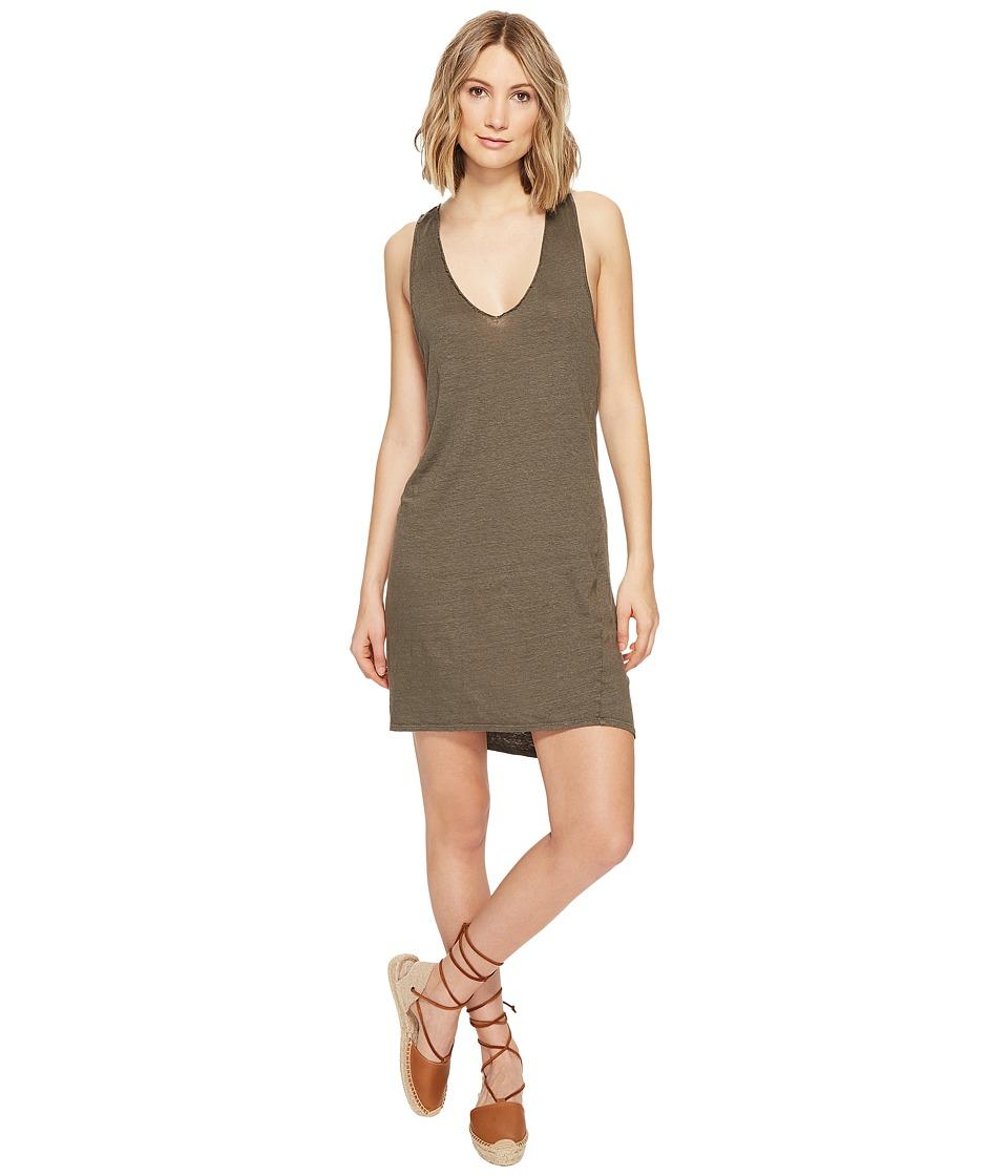 Project Social T Quiet Forest Dress (Loden) Women