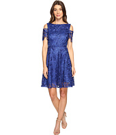 Tahari by ASL - Cold Shoulder Lace A-Line Dress