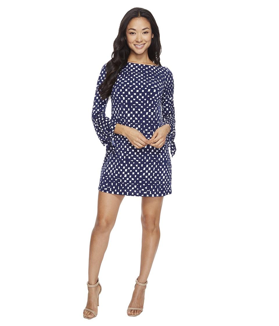 Tahari by ASL Petite - Petite Jersey Tie Sleeve Shift Dress