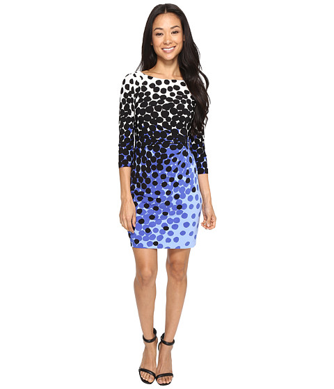 Tahari by ASL Petite Petite Matte Jersey Dot Print Sheath Dress