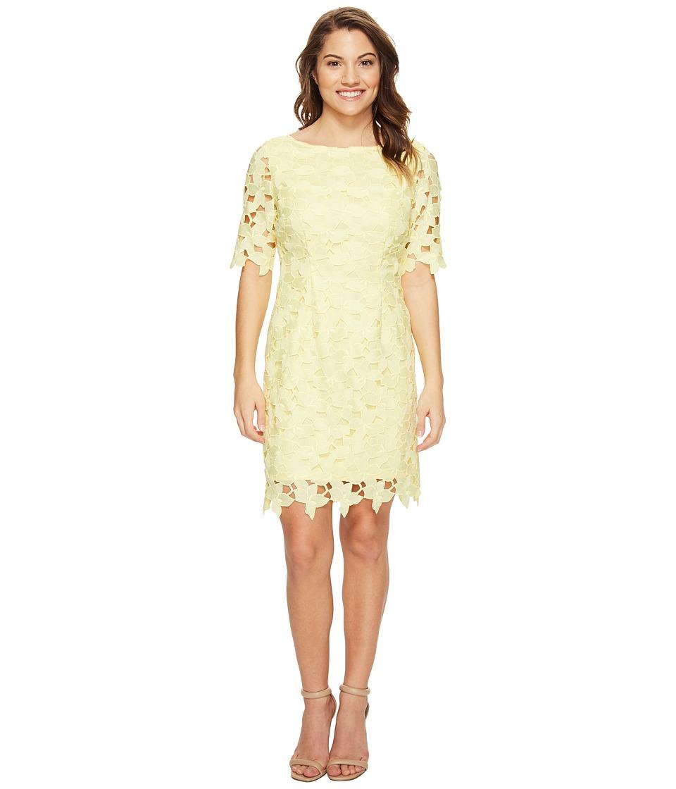 Tahari by ASL Petite - Petite Short Sleeve Chemical Lace Sheath Dress