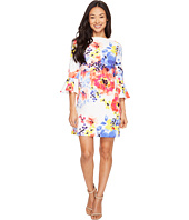 Tahari by ASL Petite - Petite Flounce Sleeve Floral Shift Dress