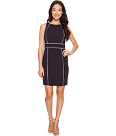 Tahari by ASL Petite - Petite Contrast Piping Sheath Dress