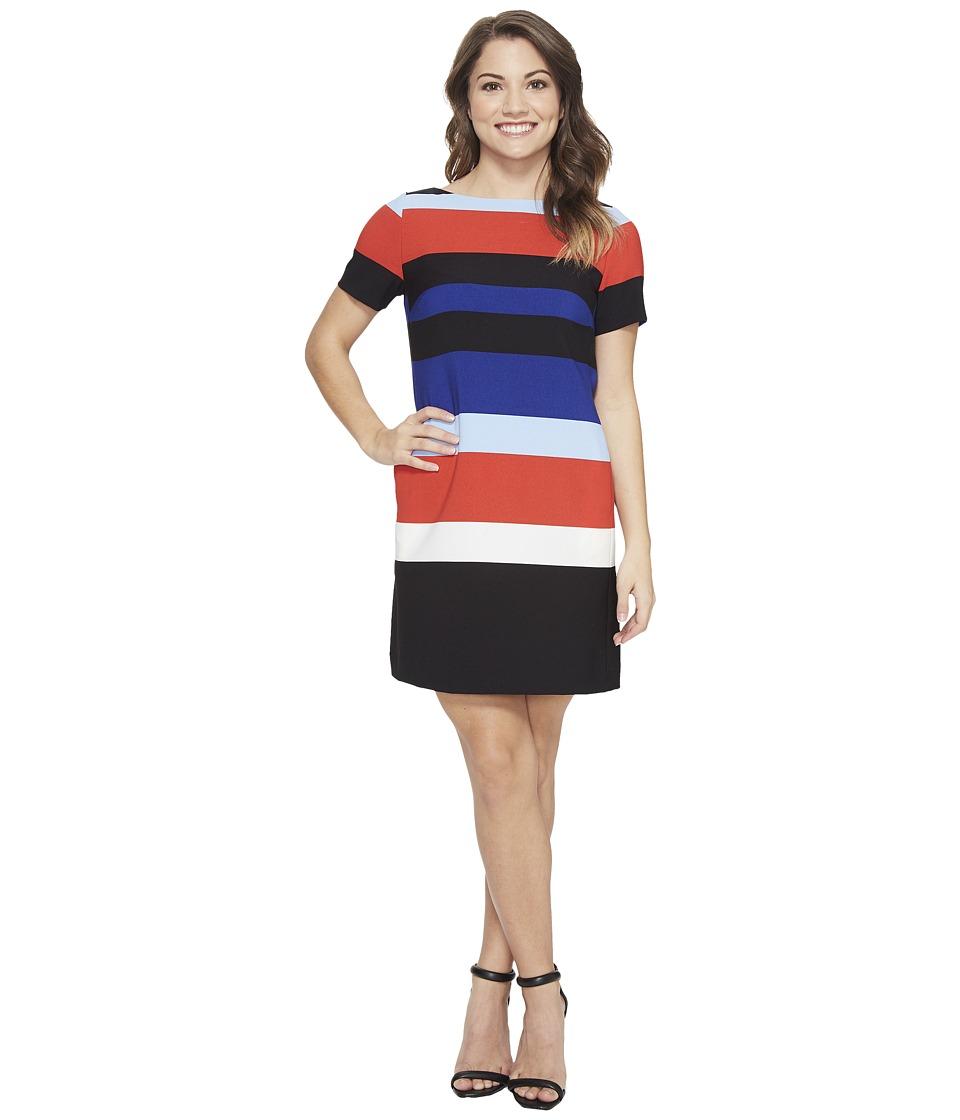 Tahari by ASL Petite - Petite Block Stripe Shift Dress