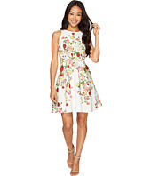 Tahari by ASL Petite - Petite Floral Faille Fit-and-Flare Dress