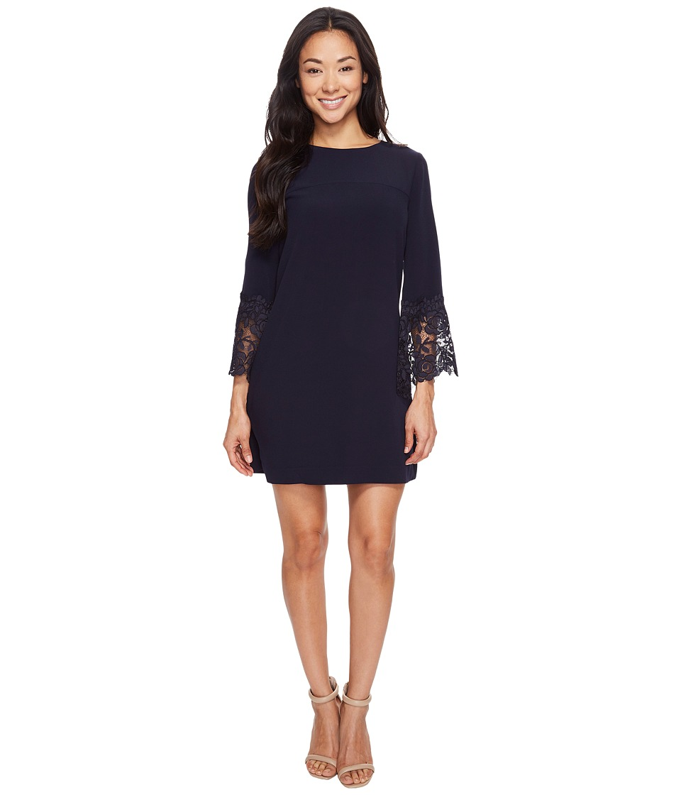 Tahari by ASL Petite - Petite Lace Bell Sleeve Shift Dress