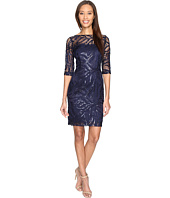 Tahari by ASL - Stretch Sequin Lace Sheath Dress
