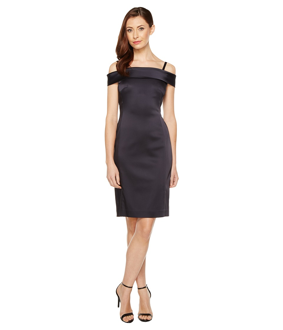Tahari by ASL Tahari by ASL - Off Shoulder Stretch Satin Sheath Dress