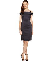 Tahari by ASL - Off Shoulder Stretch Satin Sheath Dress